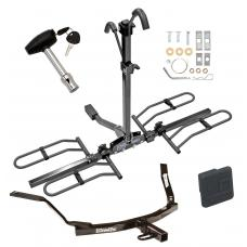 Trailer Tow Hitch For 99-03 Acura TL 01-03 CL 98-02 Honda Accord Sedan Platform Style 2 Bike Rack w/ Hitch Lock and Cover