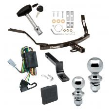 """Trailer Tow Hitch For 99-03 Acura TL 01-03 CL 98-02 Honda Accord Sedan Deluxe Package Wiring 2"""" and 1-7/8"""" Ball and Lock"""
