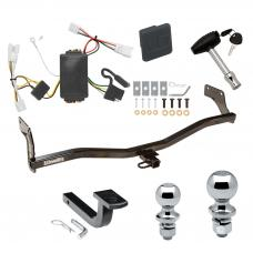 """Trailer Tow Hitch For 07-10 Hyundai Elantra Sedan Deluxe Package Wiring 2"""" and 1-7/8"""" Ball and Lock"""