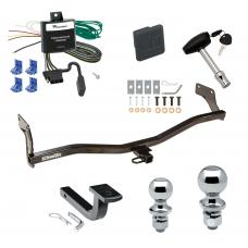 """Trailer Tow Hitch For 06-11 KIA Rio5 Hyundai Accent Hatchback Deluxe Package Wiring 2"""" and 1-7/8"""" Ball and Lock"""