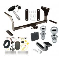 """Trailer Tow Hitch For 07-15 Nissan Altima Sedan 09-14 Maxima Deluxe Package Wiring 2"""" and 1-7/8"""" Ball and Lock"""