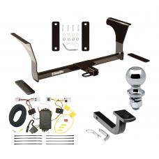 """Trailer Tow Hitch For 07-15 Nissan Altima Sedan 09-14 Maxima Complete Package w/ Wiring Draw Bar and 2"""" Ball"""
