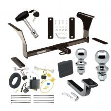 """Trailer Tow Hitch For 16-19 Nissan Altima Sedan Deluxe Package Wiring 2"""" and 1-7/8"""" Ball and Lock"""