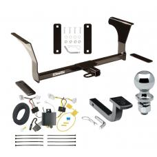 """Trailer Tow Hitch For 16-19 Nissan Altima Sedan Complete Package w/ Wiring Draw Bar and 2"""" Ball"""