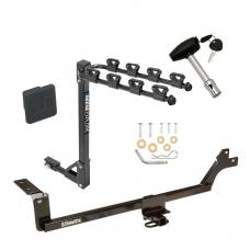 Trailer Tow Hitch w/ 4 Bike Rack For  07-12 KIA Rondo tilt away adult or child arms fold down carrier w/ Lock and Cover