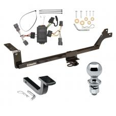 "Trailer Tow Hitch For 07-12 KIA Rondo Complete Package w/ Wiring Draw Bar and 2"" Ball"