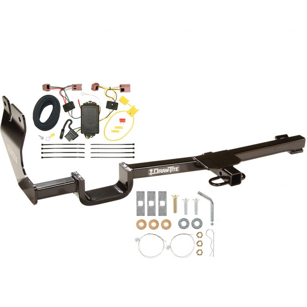 trailer tow hitch for 07-12 nissan versa hatchback tow receiver w/ wiring  harness kit