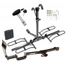 Trailer Tow Hitch For 07-12 Nissan Versa Platform Style 2 Bike Rack w/ Hitch Lock and Cover