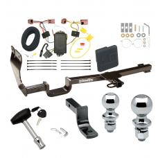 """Trailer Tow Hitch For 07-12 Nissan Versa 5 Dr. Hatchback Deluxe Package Wiring 2"""" and 1-7/8"""" Ball and Lock"""