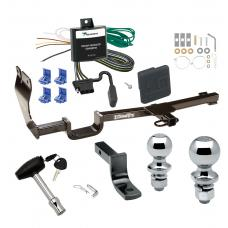 """Trailer Tow Hitch For 07-11 Nissan Versa 4 Dr. Sedan Deluxe Package Wiring 2"""" and 1-7/8"""" Ball and Lock"""