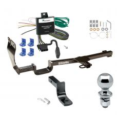 """Trailer Tow Hitch For 07-11 Nissan Versa 4 Dr. Sedan Complete Package w/ Wiring Draw Bar and 2"""" Ball"""