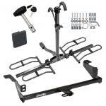 Trailer Tow Hitch For 08-11 Ford Focus Platform Style 2 Bike Rack w/ Hitch Lock and Cover