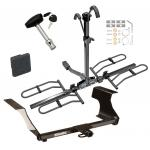 Trailer Tow Hitch For 09-13 Subaru Forester 08-11 Impreza Platform Style 2 Bike Rack w/ Hitch Lock and Cover