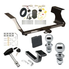 """Trailer Tow Hitch For 08-11 Subaru Impreza 4 Dr. Sedan Deluxe Package Wiring 2"""" and 1-7/8"""" Ball and Lock"""