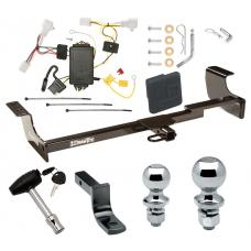 "Trailer Tow Hitch For 04-09 Toyota Prius Deluxe Package Wiring 2"" and 1-7/8"" Ball and Lock"