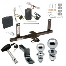 """Trailer Tow Hitch For 2006 Chevy Aveo 4 Dr. Sedan Deluxe Package Wiring 2"""" and 1-7/8"""" Ball and Lock"""