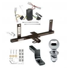 """Trailer Tow Hitch For 2006 Chevy Aveo 4 Dr. Sedan Complete Package w/ Wiring Draw Bar and 2"""" Ball"""