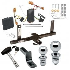 """Trailer Tow Hitch For 07-11 Chevy Aveo 4 Dr. Sedan Deluxe Package Wiring 2"""" and 1-7/8"""" Ball and Lock"""
