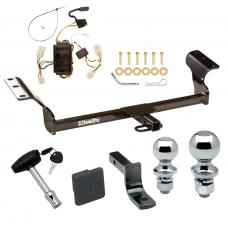 """Trailer Tow Hitch For 03-08 Toyota Matrix Deluxe Package Wiring 2"""" and 1-7/8"""" Ball and Lock"""