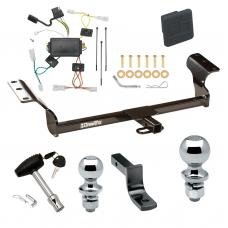 """Trailer Tow Hitch For 03-08 Pontiac Vibe Deluxe Package Wiring 2"""" and 1-7/8"""" Ball and Lock"""