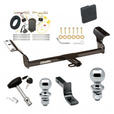 """Trailer Tow Hitch For 09-13 Toyota Matrix 09-10 Pontiac Vibe Except GT Deluxe Package Wiring 2"""" and 1-7/8"""" Ball and Lock"""