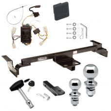 "Trailer Tow Hitch For 00-02 Toyota Echo Except Hatchback Deluxe Package Wiring 2"" and 1-7/8"" Ball and Lock"