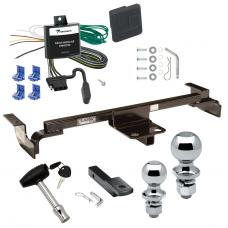 "Trailer Tow Hitch For 03-05 Toyota Echo Except Hatchback Deluxe Package Wiring 2"" and 1-7/8"" Ball and Lock"