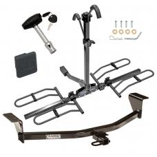 Trailer Tow Hitch For 08-13 Scion xB 11-13 tC Except Release Series Platform Style 2 Bike Rack w/ Hitch Lock and Cover