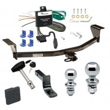 "Trailer Tow Hitch For 11-13 Scion tC Except Release Series Deluxe Package Wiring 2"" and 1-7/8"" Ball and Lock"