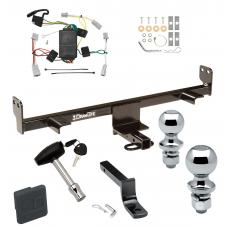 "Trailer Tow Hitch For 04-09 Mazda 3 Except w/Grand Touring LED Taillights Deluxe Package Wiring 2"" and 1-7/8"" Ball and Lock"