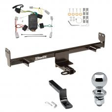 "Trailer Tow Hitch For 04-09 Mazda 3 Except w/Grand Touring LED Taillights Complete Package w/ Wiring Draw Bar and 2"" Ball"