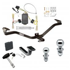 "Trailer Tow Hitch For 07-11 Suzuki SX4 Crossover Deluxe Package Wiring 2"" and 1-7/8"" Ball and Lock"