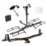 Trailer Tow Hitch For 07-11 Toyota Yaris Platform Style 2 Bike Rack w/ Hitch Lock and Cover