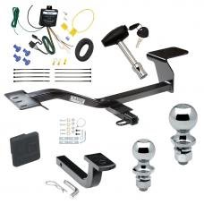 """Trailer Tow Hitch For 07-13 Volkswagen Eos Deluxe Package Wiring 2"""" and 1-7/8"""" Ball and Lock"""