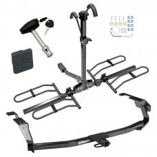 Trailer Tow Hitch For 09-13 Honda Fit Platform Style 2 Bike Rack w/ Hitch Lock and Cover