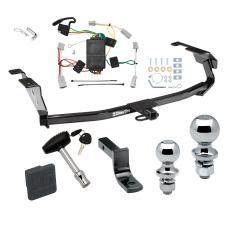 """Trailer Tow Hitch For 09-13 Honda Fit Deluxe Package Wiring 2"""" and 1-7/8"""" Ball and Lock"""
