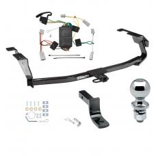 """Trailer Tow Hitch For 09-13 Honda Fit Complete Package w/ Wiring Draw Bar and 2"""" Ball"""
