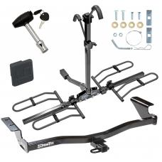 Trailer Tow Hitch For 05-10 Scion tC Platform Style 2 Bike Rack w/ Hitch Lock and Cover