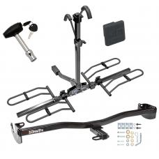 Trailer Tow Hitch For 08-10 Scion xD Platform Style 2 Bike Rack w/ Hitch Lock and Cover