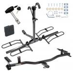 Trailer Tow Hitch For 09-13 Mazda 6 4 Dr. Sedan Platform Style 2 Bike Rack w/ Hitch Lock and Cover