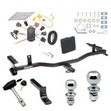 """Trailer Tow Hitch For 09-13 Mazda 6 4 Dr. Sedan Deluxe Package Wiring 2"""" and 1-7/8"""" Ball and Lock"""