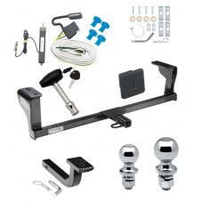 "Trailer Tow Hitch For 06-09 Pontiac Solstice 07-09 Saturn Sky Deluxe Package Wiring 2"" and 1-7/8"" Ball and Lock"
