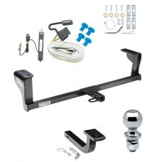 "Trailer Tow Hitch For 06-09 Pontiac Solstice 07-09 Saturn Sky Complete Package w/ Wiring Draw Bar and 2"" Ball"
