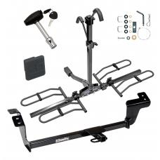 Trailer Tow Hitch For 07-12 Mitsubishi Galant Platform Style 2 Bike Rack w/ Hitch Lock and Cover