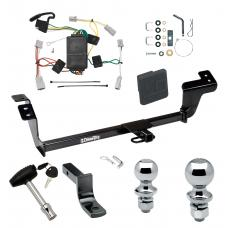 """Trailer Tow Hitch For 07-12 Mitsubishi Galant Deluxe Package Wiring 2"""" and 1-7/8"""" Ball and Lock"""
