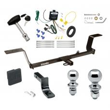 """Trailer Tow Hitch For 05-11 Audi A6 Sedan 06-10 Quattro Avant Wagon Deluxe Package Wiring 2"""" and 1-7/8"""" Ball and Lock"""