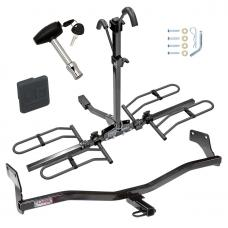 Trailer Tow Hitch For 09-12 Hyundai Elantra Touring 5 Dr. Platform Style 2 Bike Rack w/ Hitch Lock and Cover