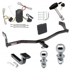 """Trailer Tow Hitch For 09-12 Hyundai Elantra Touring 5 Dr. Deluxe Package Wiring 2"""" and 1-7/8"""" Ball and Lock"""
