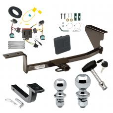 "Trailer Tow Hitch For 07-10 Volkswagen Passat Wagon Except 4 Motion Deluxe Package Wiring 2"" and 1-7/8"" Ball and Lock"