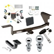 "Trailer Tow Hitch For 06-10 Volkswagen Passat Sedan Except 4 Motion Deluxe Package Wiring 2"" and 1-7/8"" Ball and Lock"
